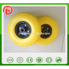 10 pulgadas verde 3.00-4 rueda de la PU para el carro del carro de la herramienta del carro de mano australiano británico