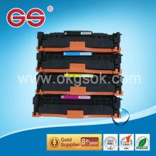 Toner compatible CC531A para cartucho de tóner hp de alta calidad