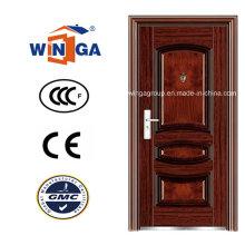 Porta de ferro metálico de metal metálico de segurança de bom preço (WS-112)