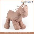 Brinquedo de pelúcia cavalo feliz por atacado, cavalo de brinquedo recheado