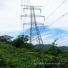 220 kV Circuito doble Torre de acero de ángulo lineal