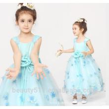 Conceptions d'habillement pour les filles scoop décolleté sans manches épaule-bretelles robes pour bébés ED766