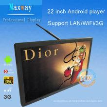 21,5 polegadas android 4.4 lcd display digital sinalização wifi 3g
