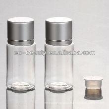 10ml transparente PET-Plastikflasche mit Aluminiumkappe
