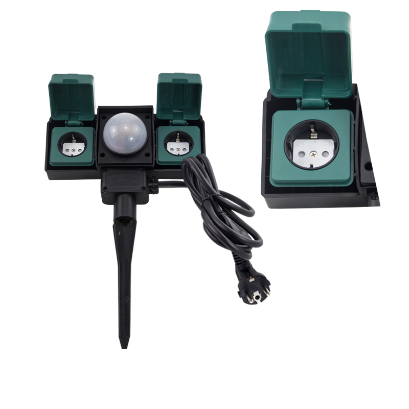 Outdoor Electrical Sockets with Dawn Sensor