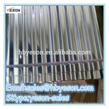 Chapa de cubierta de acero corrugado galvanizado en caliente