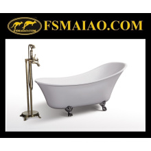 Brilhante acrílico branco autônomo banheira clássica real (BA-8307)