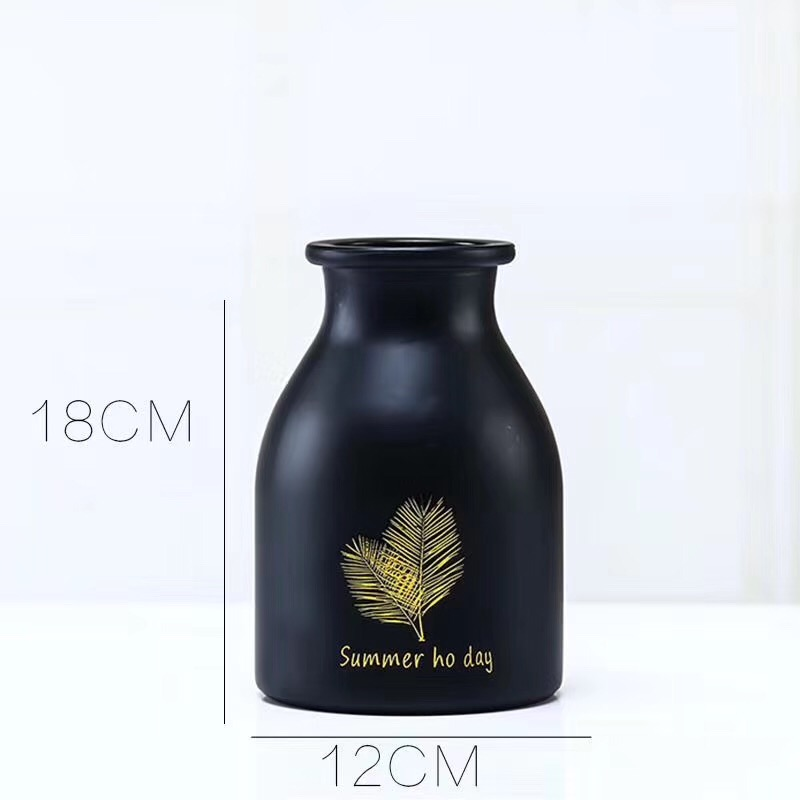 Black engraved vase
