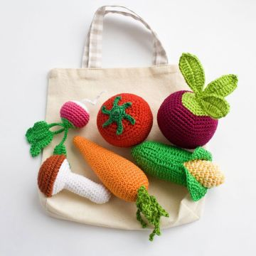 Vente en gros Super Soft Crochet Toy Vegetable Handmade