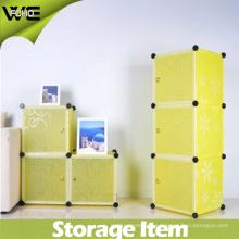 Caja de almacenamiento plástica decorativa pequeña ajustable de los niños DIY