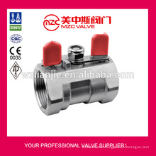 1PC Ball Valve Screw End with Butterfly Type Handle