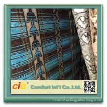 Tela del sofá del telar jacquar de la felpilla del chenille de Chenille de la tela del sofá del poliéster 100