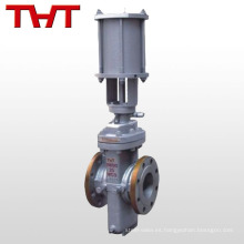 Válvula de compuerta plana barata neumática de la losa / puerta hidráulica de la losa