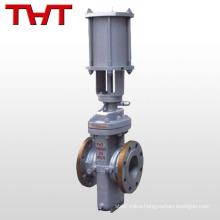 Pneumatic cheap flat slab gate valve / hydraulic slab gate