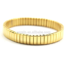 Fashion Stainless Steel Elastic Gold Cuff Claw Chain Bracelet Factory Custom Jewelry