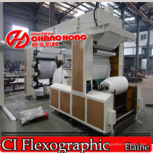 Tecido / Guardanapo / Papel Higiênico Flexo Máquina de Impressão