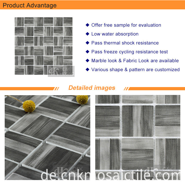 2 Square Wood Look Recycled Glass Tile Mosaic (2)