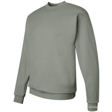 Long Sleeve Custom Solid Color Crew Neck Fleece