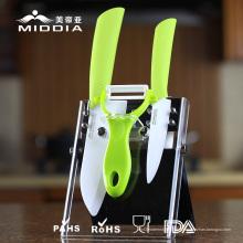 Conjunto de ferramentas Cook para facas de cerâmica e descascador como utensílios de cozinha