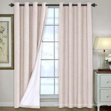 Cortinas opacas de lino Cortinas de cortina con aislamiento térmico