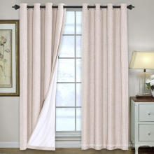 Linen Blackout Curtains Thermal Insulated Curtain Draperies