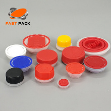 Engine oil plastic cap with flexible spout