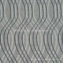 A chegada nova curvou o linho do design100% Polyester como a tela da cortina do jacquard