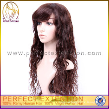 Real European Beatles Baby Afro Lace Front Human Red Curly Hair Wigs