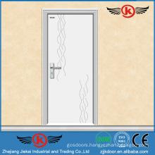 JK-P9012 white pvc laminate kitchen cabinet door/pvc flush door