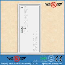 JK-P9012 белый pvc ламинат кухонный шкаф дверь / pvc флеш дверь