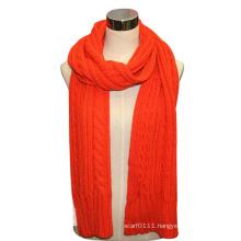 Lady Wool Acrylic Knitted Fashion Scarf (YKY4322)
