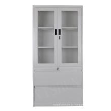 Armário de aço / porta de vidro armário de armazenamento químico / armário de armazenamento