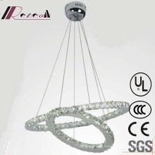 Modern Two Round Luxury Crystal Chandelier, Hotel Pendant Lighting