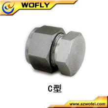 Conectores de tampa de extremidade em aço inoxidável