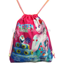 причудливый мешок drawstring полиэфира 210d рюкзак для детей, тренажерный зал мешок