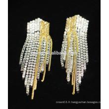 Vente en gros Boucles d'oreille en cristal élégant pendentif en cristal