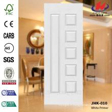JHK-010 Arabie Saoudite Manufacture Classical Popular Rut Model School Furniture MDF White Primer Door Skin