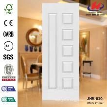 JHK-010 Arábia Saudita Fabricação Clássica Popular Rut Modelo Escola Móveis MDF White Primer Door Skin
