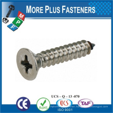 Taiwan Flat Head POZI Drive Self Tapping Screw Stainless Steel Carbon Steel M10 Zinc Self Tapping Bolt