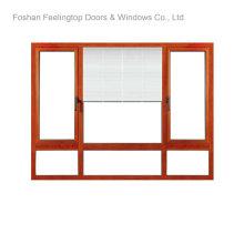 Ventana abatible de aluminio con vidrio aislante (FT-W80)