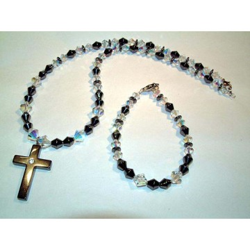 Hematite Set Cross Jewelry