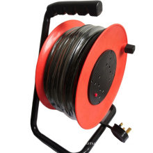 UK 4 Outlet Socket Extension Cable Reel