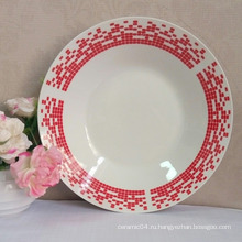 круглая суповая тарелка,линьи фарфоровая тарелка,миска