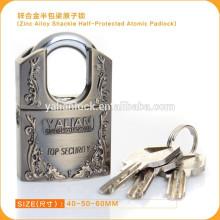 Top Security Zinc Alloy Shackle Half Protected Atomic Padlock