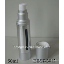50ml silver airless pump lotion bottle