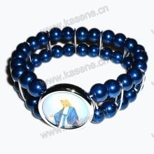 Hot Venda azul Pérola Beads Pulseira Moda Relógio De Pulso