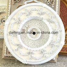 Décoration artistique de plafond en PS blanc pour le médaillon de salon
