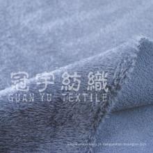 Tecido de poliéster de veludo com pelo curto para têxteis domésticos