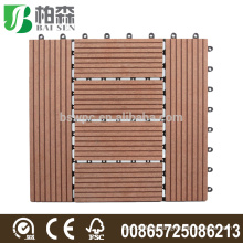 Decking Tiles WPC 300mmx300mmx20mm Red/Brown AntiSlip Box of 11 Maintenance Free