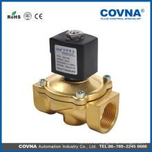 2/2 diafragma de elevación directa NC válvula de latón, DC12V, 24V, 36V AC24V, 120V, 240V / 60Hz; 110V, 220V / 50Hz válvula solenoide
